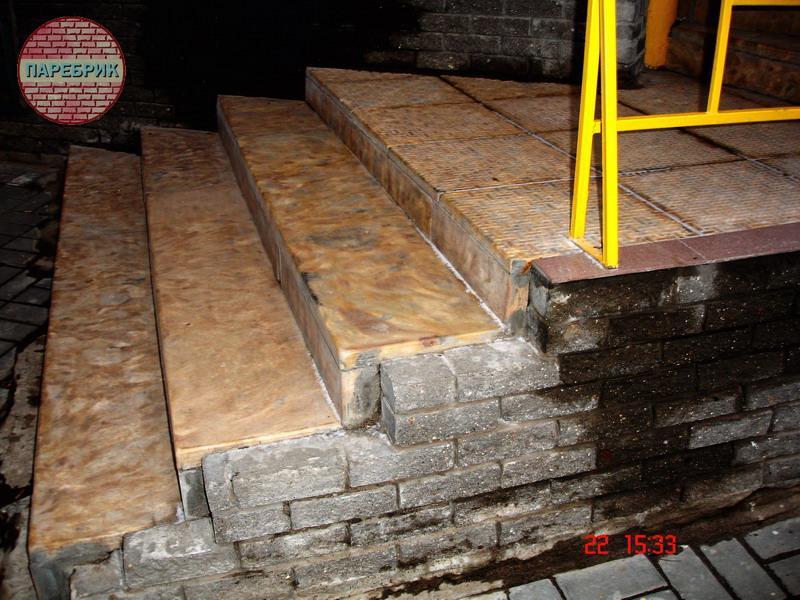 Облицевать крыльцо из бетона